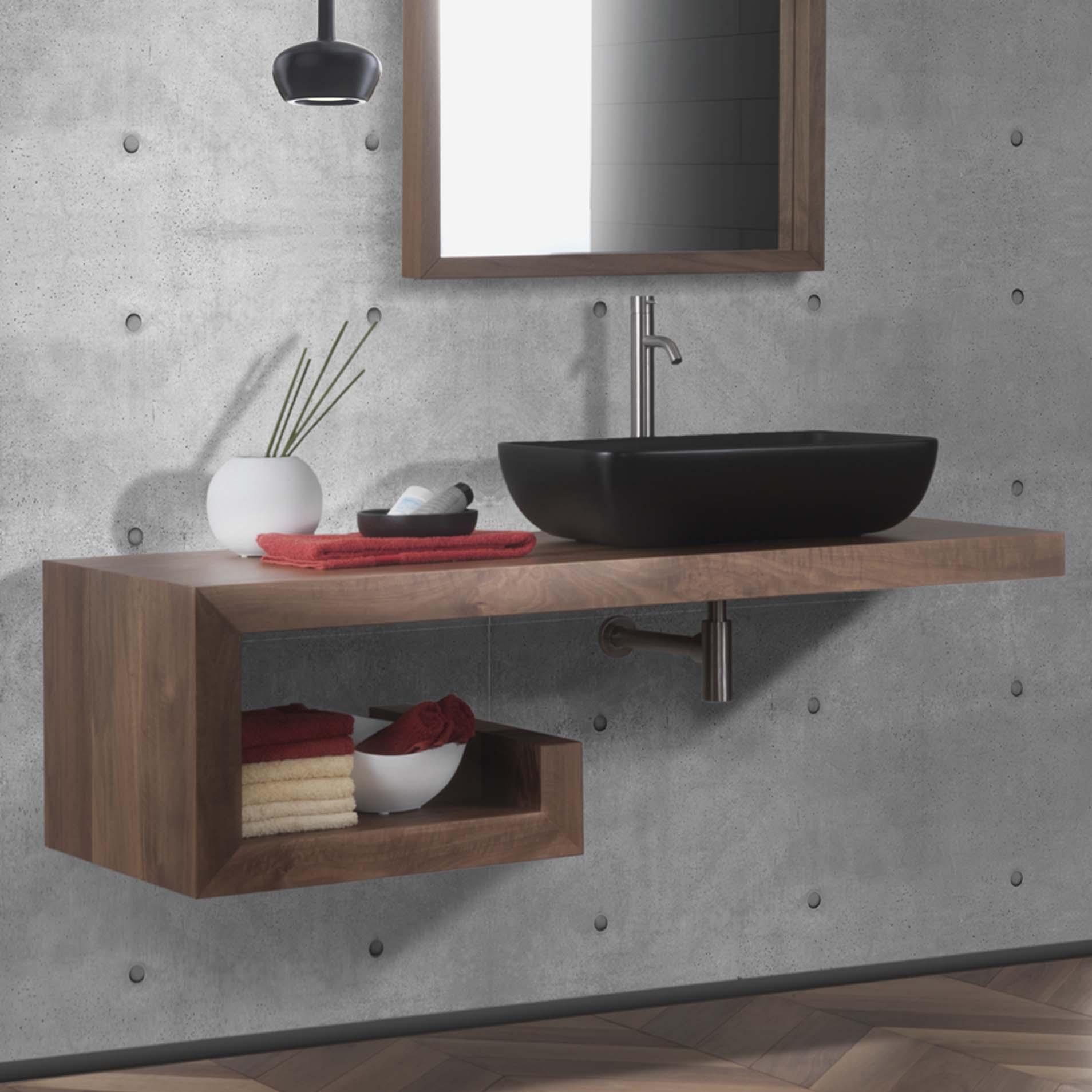 allestimento legno bagno